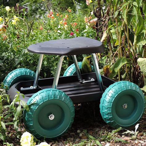 Amazon Com Pure Garden Garden Cart Rolling Scooter With .