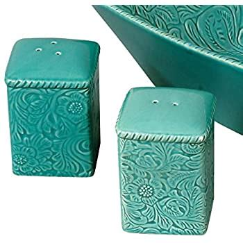 Amazon Com Savannah Turquoise Salt  Pepper Shakers .