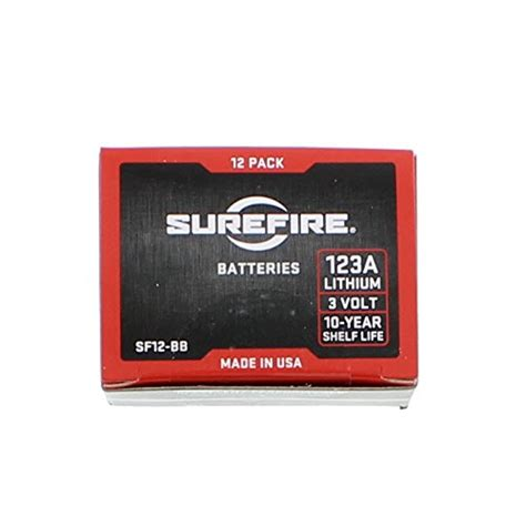 Amazon Com Surefire Sf12-Bb Box Of 12 123a 3 Volt Lithium .