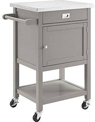 Amazon Com Sydney Apartment Cart In Gray Finish Kitchen .