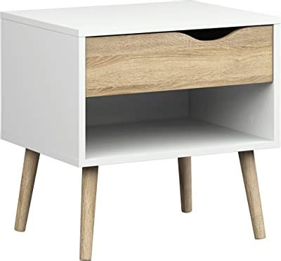Amazon Com Tvilum 7539449ak Diana 1 Drawer Nightstand .