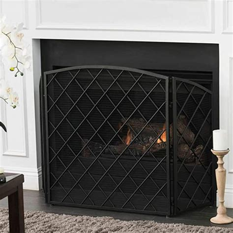 Amazon Com Black Iron Fireplace Screen.
