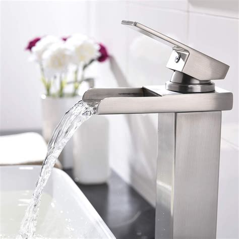 Amazon Com Brushed Nickel Single Faucet.