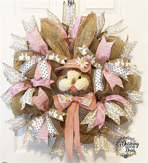 Amazon Com Easter Mesh Wreath Handmade Products.