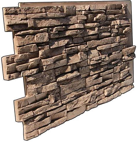 Amazon Com Faux Stone Wall Panels - Brown  Siding  Raw .