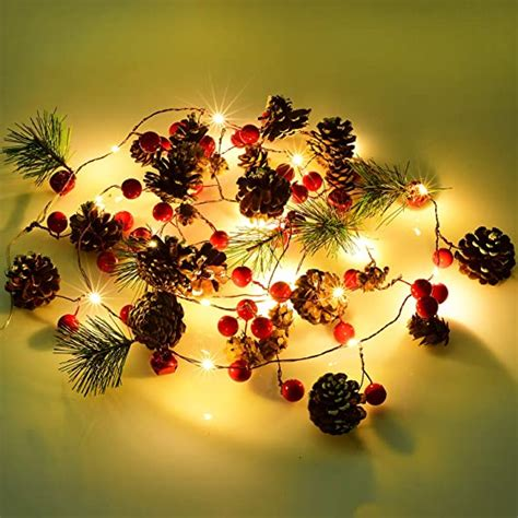 Amazon Com Lighted Berry Garland - Home D Cor Accents .