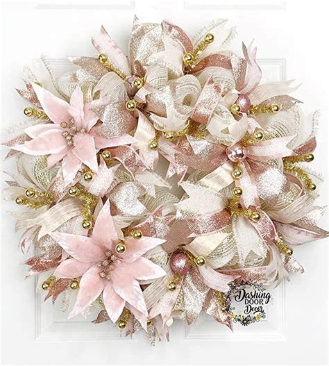 Amazon Com Poinsettia Wreath - Christmas.