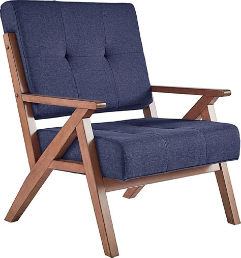 Amazon Com Tufted Linen Chair.
