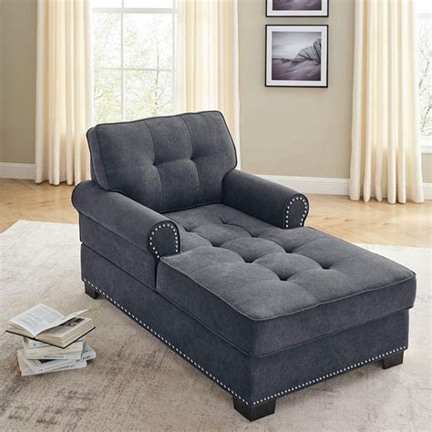 Amazon Com Upholstered Chaise Lounge.