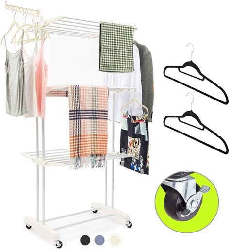 Amazon Com Wide Clothes Drying Rack.