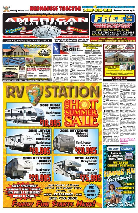 Ameican Classifieds June 18th Edition Bryan  - Issuu.