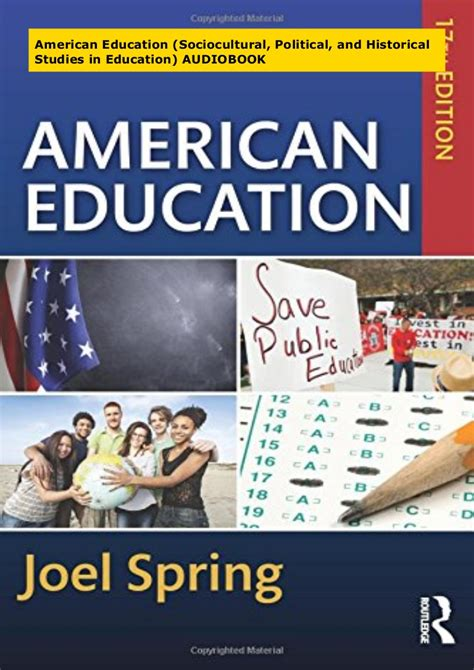 [pdf] American Education Sociocultural Political And Historical .