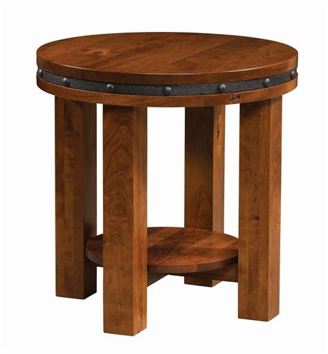 Amish Round End Tables