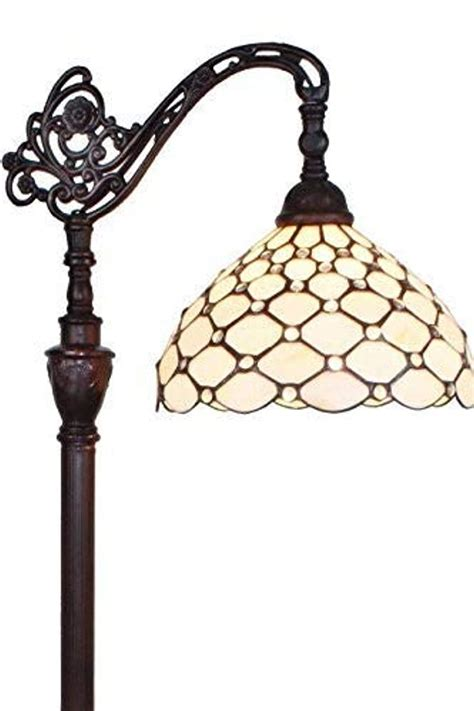 Amora Lighting 62 In Tiffany Style Jeweled Reading Floor .