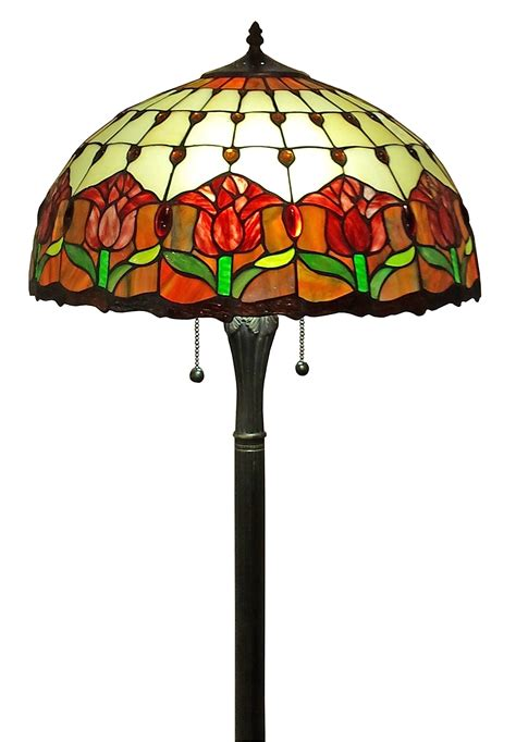 Amora Lighting Am002fl18 Tiffany Style Tulips Floor Lamp .