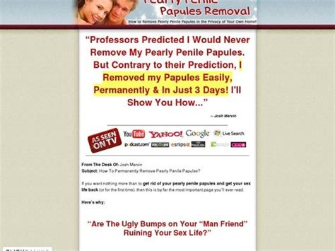 An Update On No-Hassle Pearly Penile Papules Removal - Brand.