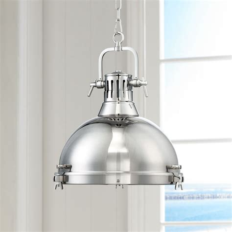 Andante Industrial Kitchen Pendant Light - Chrome Hanging .