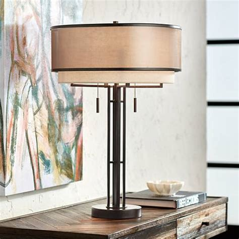 Andes Double Shade Industrial Table Lamp - Bhg Com Shop.