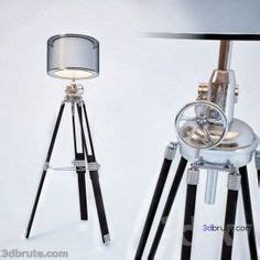 Ansel Tripod Collection Floor Lamp 180 3dmodel - 3dbrute Com.