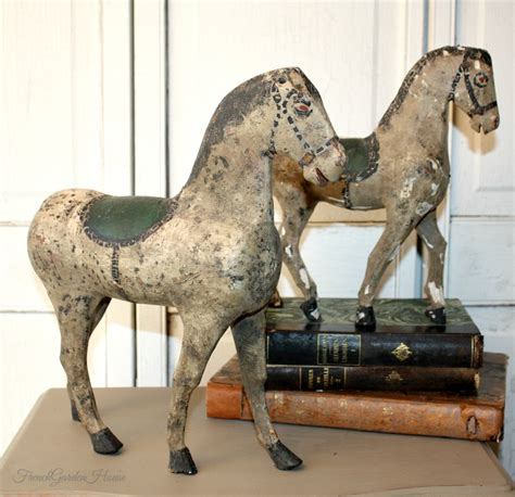 Antique Hand Carved Wooden Horses