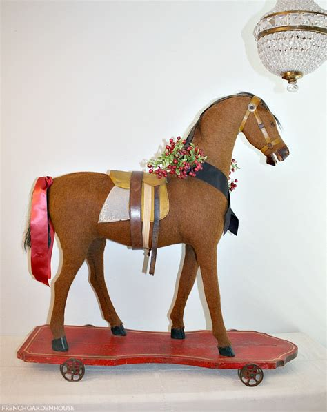 Antique Riding Toy Horse