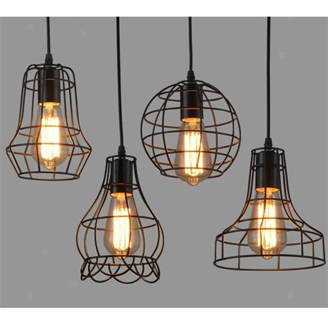 Antiqued Wire Cage Pendant Light - Shades Of Light.