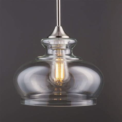 Ariella Ovale Led Kitchen Pendant Light Fixture - Brushed .