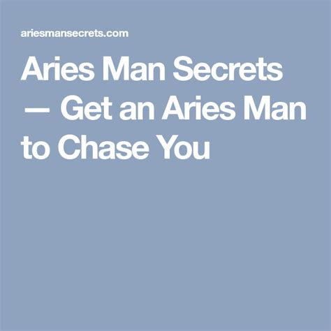 [pdf] Aries Man Secrets   Get An Aries Man To Chase You For That .
