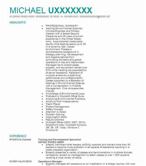 army training specialist resume evaluation form sample for employeesarmy training specialist resume