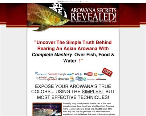 [click]arowana Secrets Revealed Review-Leading Guide To All .