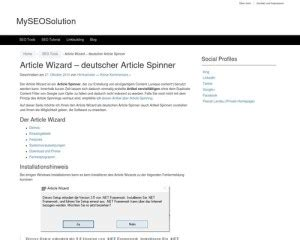 [click]article Wizard Deutscher Article Spinner.