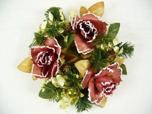 Artificial Silk Flower Rose Astilbe Pine Cone Wreath .