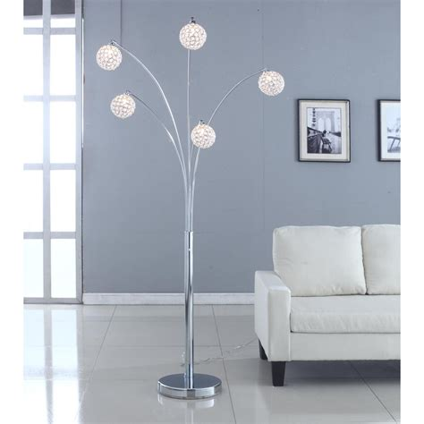 Artiva Usa Manhattan Crystal 84  Arched Floor Lamp .