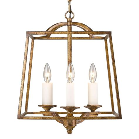 Athena 3 Light Pendant In Grecian Gold Incandescent .