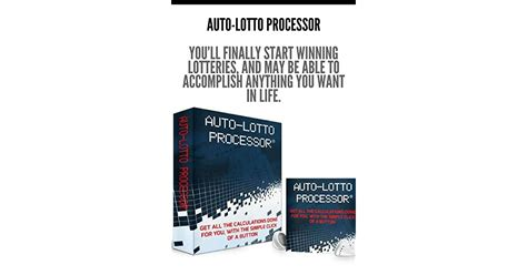 @ Auto Lotto Processor    Richard Lustig Book.