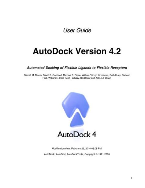 [pdf] Autodock Version 4.