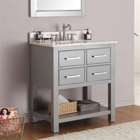 Avanity Brooks 30 In Vanity Cabinet Only In Chilled Gray .