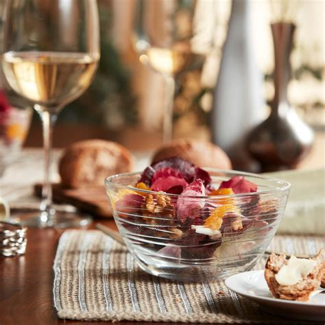 Aviva 5 5 In 6-Piece Clear Glass Small Wave Side Bowl Set.