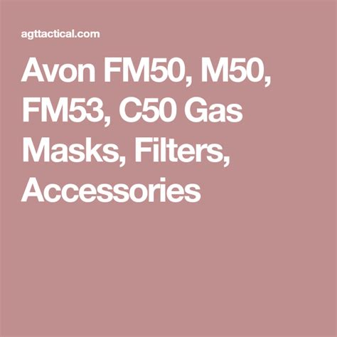 Avon Fm50 M50 Fm53 C50 Gas Masks Filters Accessories.