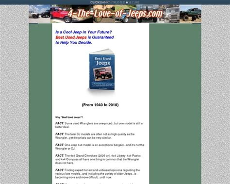 [click]best Used Jeeps Guide - Wiki-Review Com.