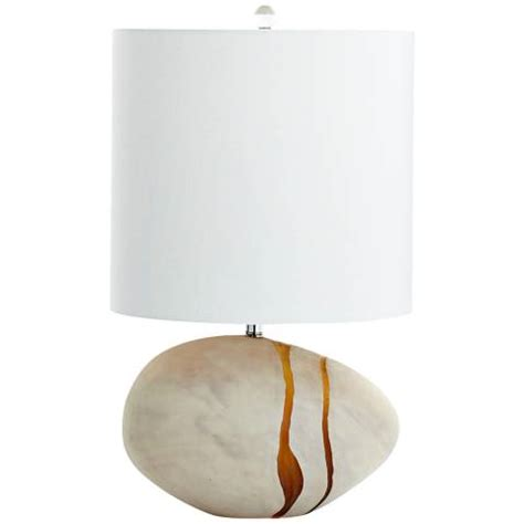 Big Deal On Tiber Small Light Amber Glass 3-Light Table Lamp.