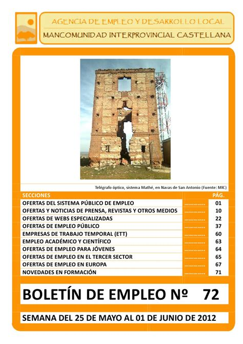 @ Boletin De Empleo N  72 By Aedl Mic - Issuu.