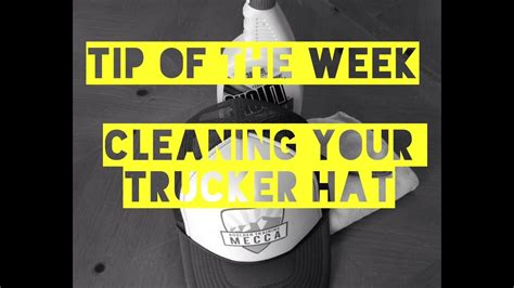 Btms Tip Of The Week_how To Clean Your Trucker Hat - Youtube.