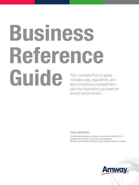 [pdf] Business Reference Guide - Amway Us