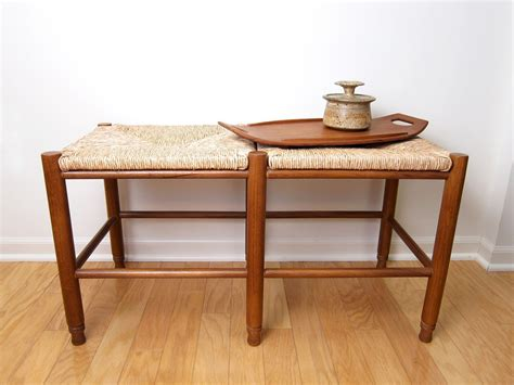 Backless Bench With Rush Seat