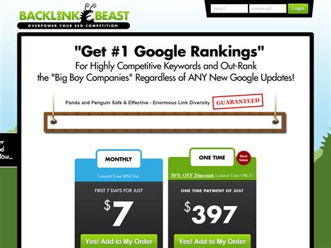 Backlink Beast - Best Seo Software - Recurring - Cb Snooper.