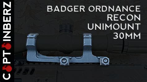 Badger Ordnance 30 Mm Recon Spr Unimount Dmr Ar-15 .