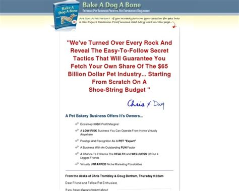 Bake-A-Dog-A-Bone Step-By-Step Start-Up Resources Guide!.