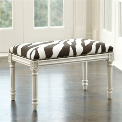 Ballard Designs Zebra Bench