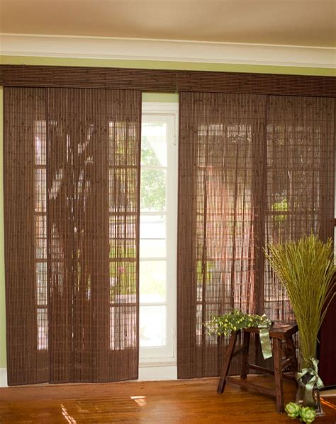 Bamboo Slider Panel Blinds For Patio Doors And Windows.